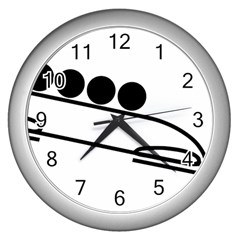Bobsleigh Pictogram Wall Clocks (silver)  by abbeyz71