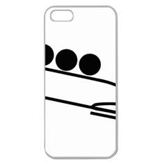 Bobsleigh Pictogram Apple Seamless Iphone 5 Case (clear) by abbeyz71