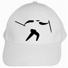 Cross Country Skiing Pictogram White Cap by abbeyz71
