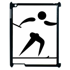 Cross Country Skiing Pictogram Apple Ipad 2 Case (black) by abbeyz71