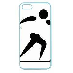 Cross Country Skiing Pictogram Apple Seamless Iphone 5 Case (color) by abbeyz71