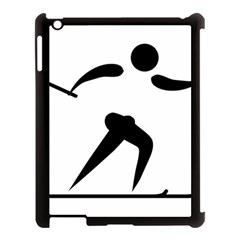 Cross Country Skiing Pictogram Apple Ipad 3/4 Case (black) by abbeyz71