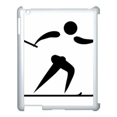 Cross Country Skiing Pictogram Apple Ipad 3/4 Case (white) by abbeyz71