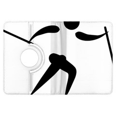 Cross Country Skiing Pictogram Kindle Fire Hdx Flip 360 Case by abbeyz71