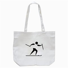 Cross Country Skiing Pictogram Tote Bag (white) by abbeyz71