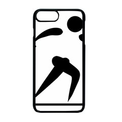 Cross Country Skiing Pictogram Apple iPhone 7 Plus Seamless Case (Black)