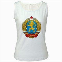 Coat Of Arms Of Bulgaria (1948 1968) Women s White Tank Top by abbeyz71