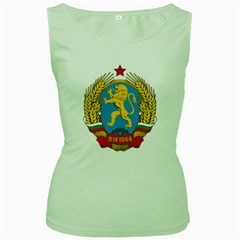 Coat Of Arms Of Bulgaria (1948 1968) Women s Green Tank Top by abbeyz71