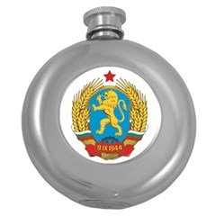 Coat Of Arms Of Bulgaria (1948 1968) Round Hip Flask (5 Oz) by abbeyz71