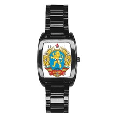 Coat Of Arms Of Bulgaria (1948 1968) Stainless Steel Barrel Watch by abbeyz71