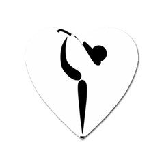 Figure Skating Pictogram Heart Magnet by abbeyz71