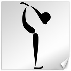 Figure Skating Pictogram Canvas 20  X 20   by abbeyz71