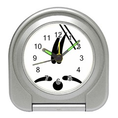 Freestyle Skiing Pictogram Travel Alarm Clocks by abbeyz71