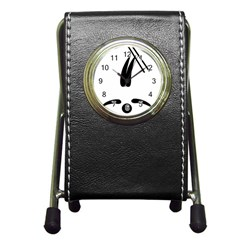 Freestyle Skiing Pictogram Pen Holder Desk Clocks by abbeyz71
