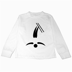 Freestyle Skiing Pictogram Kids Long Sleeve T Shirts by abbeyz71