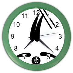 Freestyle Skiing Pictogram Color Wall Clocks by abbeyz71