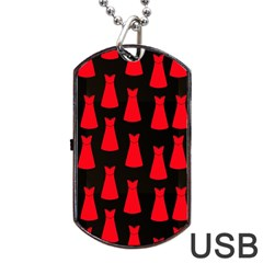 Dresses Seamless Pattern Dog Tag Usb Flash (two Sides) by Nexatart