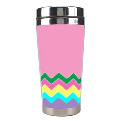 Easter Chevron Pattern Stripes Stainless Steel Travel Tumblers