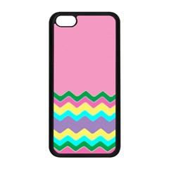 Easter Chevron Pattern Stripes Apple Iphone 5c Seamless Case (black)
