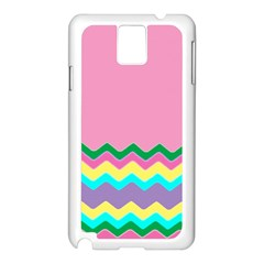 Easter Chevron Pattern Stripes Samsung Galaxy Note 3 N9005 Case (white)
