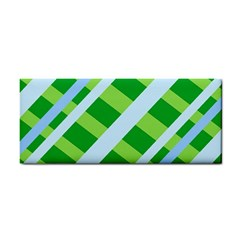 Fabric Cotton Geometric Diagonal Cosmetic Storage Cases by Nexatart