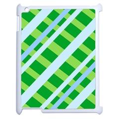Fabric Cotton Geometric Diagonal Apple Ipad 2 Case (white) by Nexatart