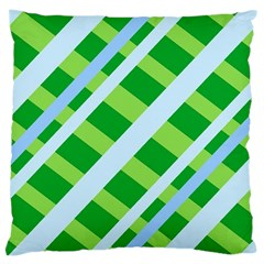 Fabric Cotton Geometric Diagonal Large Cushion Case (two Sides) by Nexatart