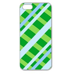 Fabric Cotton Geometric Diagonal Apple Seamless Iphone 5 Case (clear) by Nexatart