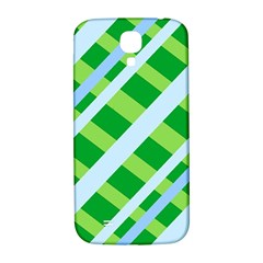 Fabric Cotton Geometric Diagonal Samsung Galaxy S4 I9500/i9505  Hardshell Back Case by Nexatart