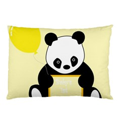 First Birthday Panda Card Pillow Case
