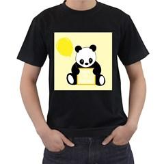 First Birthday Panda Card Men s T Shirt (black) by Nexatart