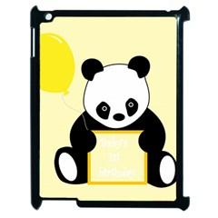First Birthday Panda Card Apple Ipad 2 Case (black)