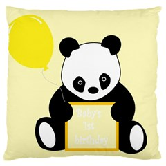 First Birthday Panda Card Large Cushion Case (one Side)