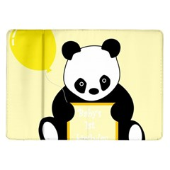 First Birthday Panda Card Samsung Galaxy Tab 10 1  P7500 Flip Case