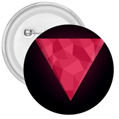 Geometric Triangle Pink 3  Buttons by Nexatart