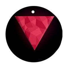 Geometric Triangle Pink Ornament (round) by Nexatart