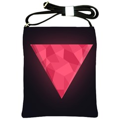 Geometric Triangle Pink Shoulder Sling Bags by Nexatart