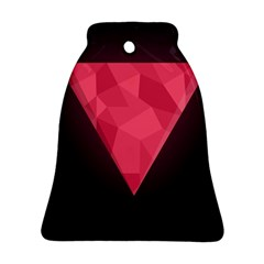 Geometric Triangle Pink Bell Ornament (two Sides)