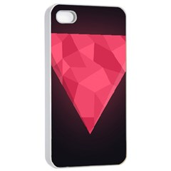 Geometric Triangle Pink Apple Iphone 4/4s Seamless Case (white)