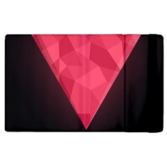 Geometric Triangle Pink Apple Ipad 3/4 Flip Case by Nexatart