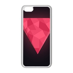 Geometric Triangle Pink Apple Iphone 5c Seamless Case (white)