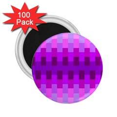 Geometric Cubes Pink Purple Blue 2 25  Magnets (100 Pack)  by Nexatart