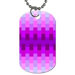 Geometric Cubes Pink Purple Blue Dog Tag (two Sides)