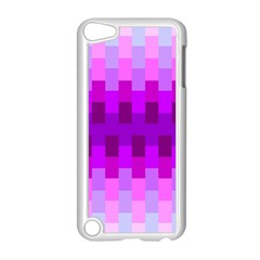 Geometric Cubes Pink Purple Blue Apple Ipod Touch 5 Case (white)