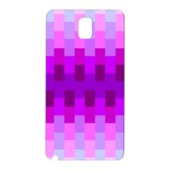 Geometric Cubes Pink Purple Blue Samsung Galaxy Note 3 N9005 Hardshell Back Case by Nexatart