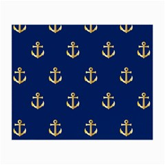 Gold Anchors Background Small Glasses Cloth (2 Side) by Nexatart