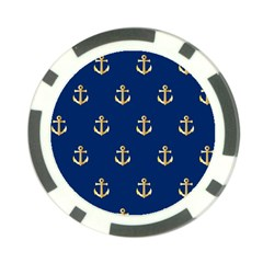 Gold Anchors Background Poker Chip Card Guard (10 Pack) by Nexatart