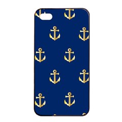 Gold Anchors Background Apple Iphone 4/4s Seamless Case (black)