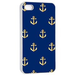 Gold Anchors Background Apple Iphone 4/4s Seamless Case (white)