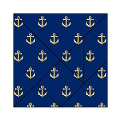 Gold Anchors Background Acrylic Tangram Puzzle (6  X 6 )